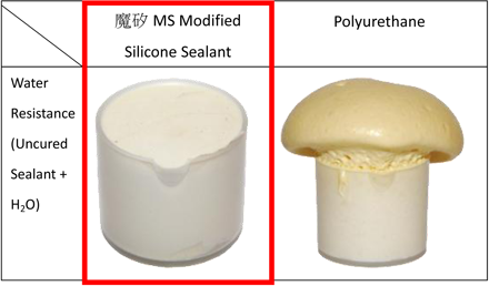 Water Resistance (Uncured Sealant + H2O)